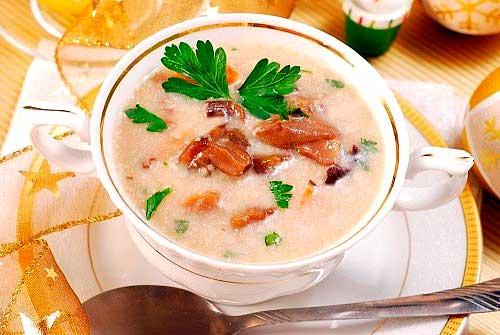 Крем суп из белых грибов рецепт сливки